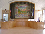 Linn Township Hall Custom Oak Boardrooom Desk